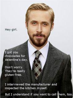 Ryan Gosling gluten free meme